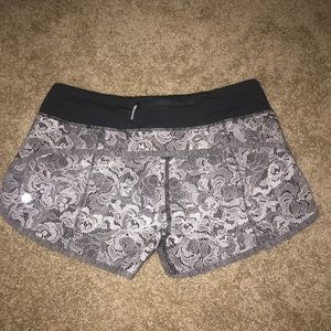 Lululemon Florence lace Speed Shorts